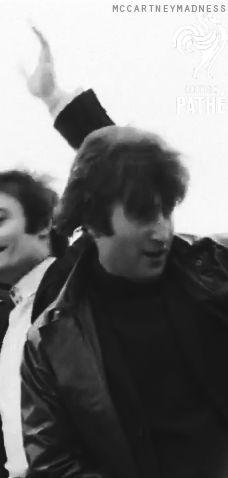 John having hair trouble before boarding the plane for Australia, 1964