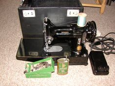 Singer featherweight 222k Sewing Machine by ArtifactAntiques
