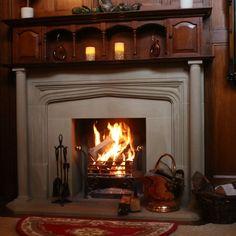 Yorkstone , stone fire surround Natural Stone Fireplaces, Fire Surround, Natural Stones, Home Decor, Cozy Fireplace, Interior Design, Home Interior Design, Home Decoration, Decoration Home