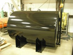We manufactured the 500 gallon fuel tank that will be mounted on the trailer to supply fuel for the generator.