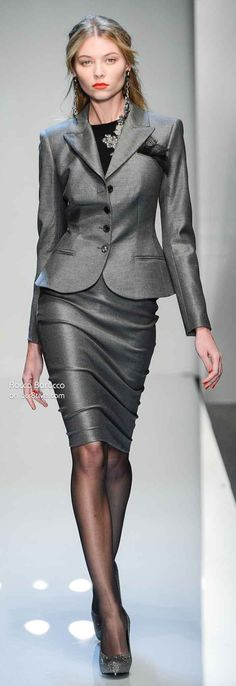 Black lace pocket scarf, Roccobarocco Fall Winter 2013-14 Ready to Wear Milan
