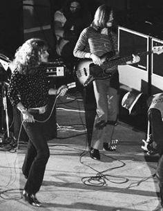 Robert Plant, John Paul Jones and Jimmy Page of LedZeppelin