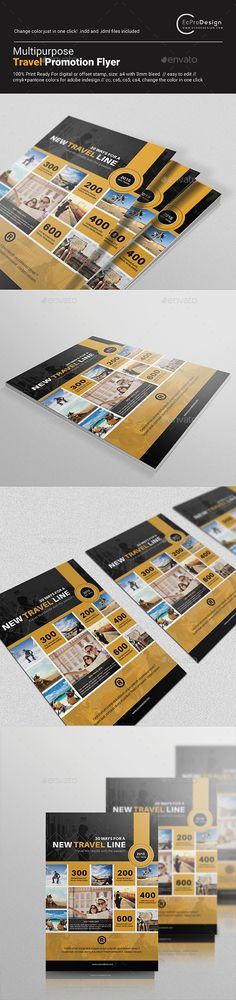 Multipurpose Travel Promotion Flyer - Corporate Flyers