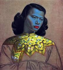 tretchikoff- lady in blue