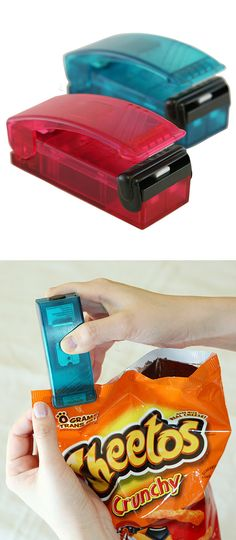 Keep snacks fresh thanks to this innovative bag re-sealer #product_design