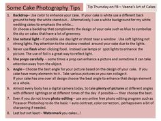 Some cake photography tips
