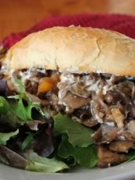 Balsamic Portobello & Goat Cheese Hoagies   KitchenDaily.com