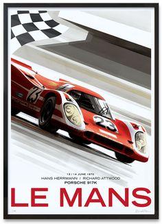 Best Porsche Inspiration : Illustration Description Le Mans / Porsche by Guy Allen -Read More – Porsche Autos, Porsche Motorsport, Porsche Cars, 24 Hours Le Mans, Le Mans 24, Auto Poster, Car Posters, Sports Car Racing, Sport Cars