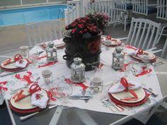 The Tablescaper: Lobster Feast Lobster Feast, Lobster Party, Lobster Boil, Shrimp Boil Party, Joe Crab Shack, Seaside Decor, Dining Room Inspiration, Table Arrangements, Bar Drinks