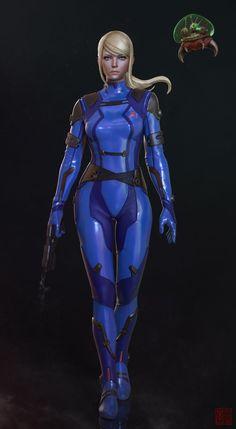 Making of Samus Aran Zero Suit by Allan Lee - zbrushtuts Metroid Samus, Metroid Prime, Cyberpunk, Samus Aran Zero Suit, Female Armor, Video Games Girls, Sci Fi Characters, Comic Games, Pokemon Games