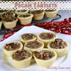 Pecan Tartlets taste just like pecan pies, only better! They can be made ahead of time and frozen too! - Recipes Food and Cooking