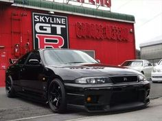 GTR black on black Nissan R33, Nissan Skyline R33, R33 Gtr, Street Racing Cars, Auto Racing, Mustang, Tuner Cars, Jdm Cars, Mitsubishi Lancer Evolution