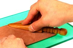 GoodsJapan | Leathercraft Supplies | Japanese Knives | PMC Silver Clay : Craft Sha Leathercraft Sakura Maru Folder Burnisher and Slicker for Leather