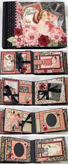 Terry's Scrapbooks: Graphic 45 Mon Amour Mini Album More