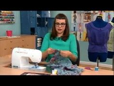 408-3 Gretchen Hirsch demonstrates the hairline seam for sewing with sheers on It's Sew Easy
