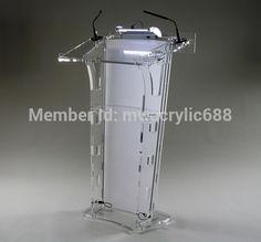 Free Shipping HoYode Monterrey Price Reasonable Acrylic Podium Pulpit Lectern podium