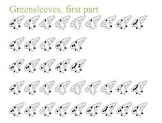 Star Wars Theme Song 12 hole ocarina tablature by smileys