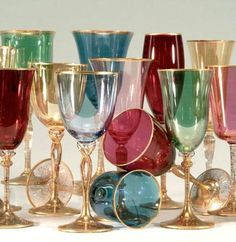 Consider adding a colored glass to the place setting. It's a great way to create interest with minimal cost!