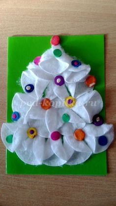 VK is the largest European social network with more than 100 million active users. Diy Christmas Ornaments, Christmas Holidays, Toddler Crafts, Crafts For Kids, Crafts For Seniors, Senior Crafts, Z Photo, Cotton Pads, Triangle
