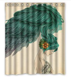 "New beautiful birds, flamingos, peacocks and parrot Shower Curtain Print 60"" x 72 5 styles"
