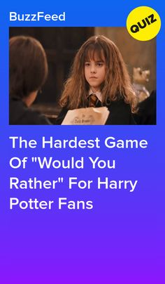 """The Hardest Game Of """"Would You Rather"""" For Harry Potter Fans Ultimate Harry Potter Quiz, Hardest Harry Potter Quiz, Harry Potter Quiz Buzzfeed, Harry Potter Character Quiz, Harry Potter Life Quiz, Harry Potter Disney, Harry Potter Potions, Harry Potter Fandom, Harry Potter Characters"""