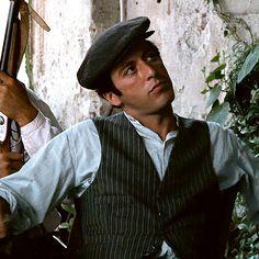 BROTHERTEDD.COM - saoirseronan: Al Pacino as Michael Corleone in... Gangster Movies, Film Reels, Al Pacino, Image Notes, Marlon Brando, Media Images, The Godfather, Famous Faces, Photography