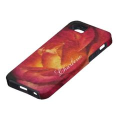A Rose Aflame Oil Painting iPhone 5 Cases by Florals by Fred #zazzle #gift #photogift