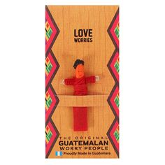 This Guatemalan worry doll will dissolve all of your health worries. Visit us today for a great range of curious gifts and decor. Red Company, Santa's Magic Key, Worry Dolls, Baby Hedgehog, Family Ornament, Mother And Baby, No Worries, Maya, How To Find Out