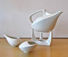 #Friesland White #Porcelain contemporary #tea pot