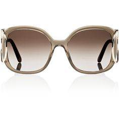 Chloé Women s Jackson Square Sunglasses ( 396) ❤ liked on Polyvore  featuring accessories, eyewear, sunglasses, no color, oversized glasses, ... 9d515ad45413