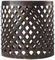 Shiva Lattice Side Table - Round Stool - Iron Stool - Garden Stool - Outdoor Accent Table   HomeDecorators.com