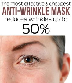 The most effective and cheapest anti-wrinkle mask - Reduces wrinkles up to 50%.