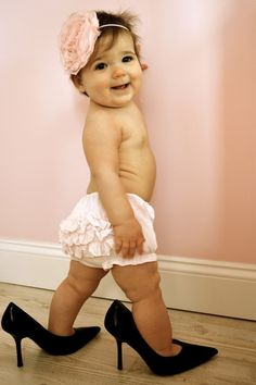 LOVE!!! I have a picture like this in my grandma's heels! I should do this for my baby girl when I have one!
