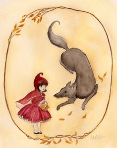 Little Red Riding Hood and the Wolf by Cat Mallard