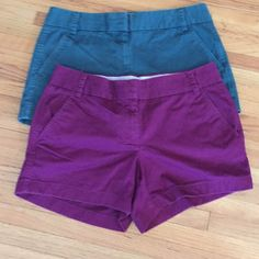 2 Pairs J crew shorts Size 6 chinos by J crew. Pre owned in great condition. No trades J. Crew Shorts