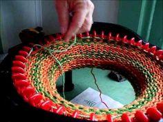 Knitting a Flat Panel on the addi Express Kingsize Knitting Machine - YouTube Loom Machine, Addi Knitting Machine, Circular Knitting Machine, Circular Loom, Knitting Machine Patterns, Arm Knitting, Knitting Socks, Knitting Needles, Addi Express