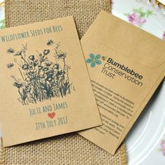 9ca46abb9 Recycled charity wedding favours containing wildflower seeds for bees