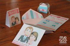 Invitaciones infográficas #invitaciones #boda #infografía #souvenirs #papelería http://www.monadaseventos.com.ar/invitaciones-infograficas/