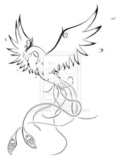 Phoenix tattoo- i'd change the tail a little bit but i like this one