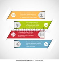 Modern simple design infographic template