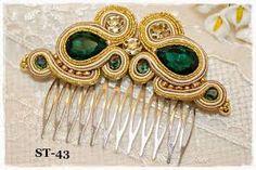 Resultado de imagen de soutache espectacular Soutache Tutorial, Shibori, Jewerly, Feather, Bangles, Hair Accessories, Beads, Creative, How To Make