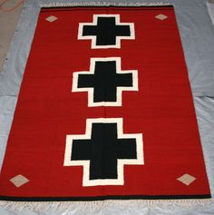Kilim Rug 10 x 7 Bousat Flat Weave Red #NA