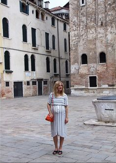 Blogger @blamefashion in the Una Stripe Dress Stripe Dress, White Dress, How To Wear, Dresses, Women, Fashion, Vestidos, Moda, Striped Dress Outfit