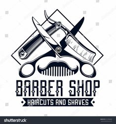 Find Barber Shop Logo stock images in HD and millions of other royalty-free stock photos, illustrations and vectors in the Shutterstock collection. Barber Logo, Barber Tattoo, Logo Barbier, Barber Shop Haircuts, Barber Shop Decor, Salon Design, Shop Logo, Sticker Shop, Vinyl Wall Art