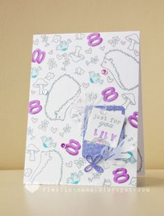 Just for You Card from the rieslingmama blog for the #MixItUpChallenge. @AveryElleStamps #EllenHutsonLLC #EssentialsbyEllen  #Advent