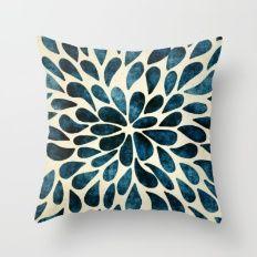 Petal Burst #5 #ThrowPillow Love all the blues in this #Pillow  https://society6.com/product/petal-burst-5_pillow?curator=artistrybyrenosmom