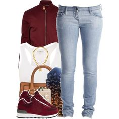 A fashion look from October 2015 featuring sass & bide jeans, New Balance sneakers and MICHAEL Michael Kors messenger bags. Browse and shop related looks.