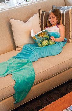 CHRISTMAS (MIA): Mermaid Blanket by Blankie Tails - Blue & Aqua...ORDERED**