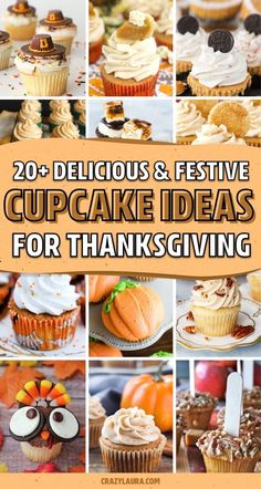 20+ Quick & Easy Thanksgiving Cupcakes For 2020 - Crazy Laura