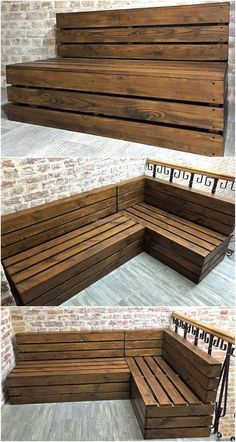 Now here is a wood pallet patio couch plan, it is easy to copy and just the extra item needed for this idea is the paint. This idea will not take much time or money for the completion, it is simple and will look great placed outdoor on the patio.